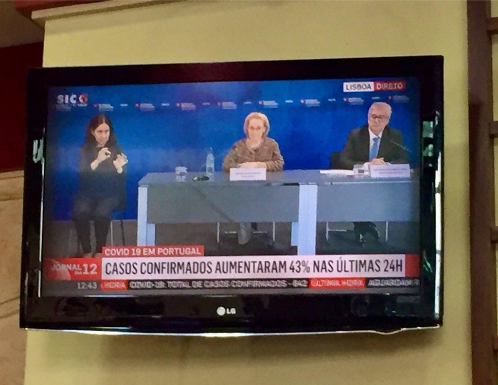 Berichtgeving op de Portugese televisie