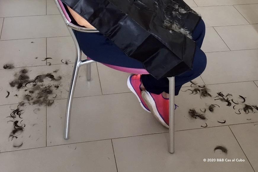 bij de kapper in corona tijden