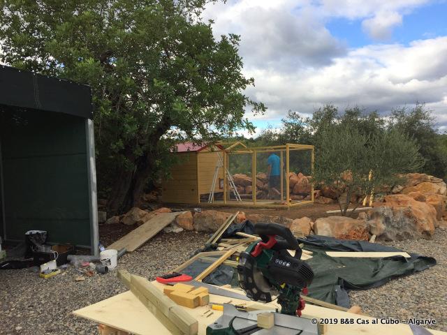 Kippenhok: werk in uitvoering